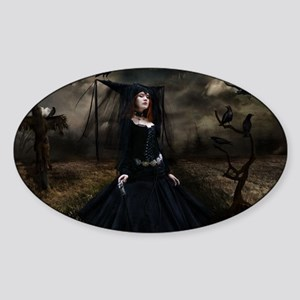 witchgown_miniposter_12x18_fullblee Sticker (Oval)
