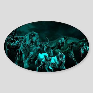 zombie_dogs_miniposter_12x18_fullbl Sticker (Oval)