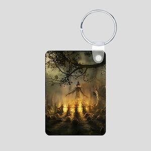 scarecrowgatheringvert_min Aluminum Photo Keychain
