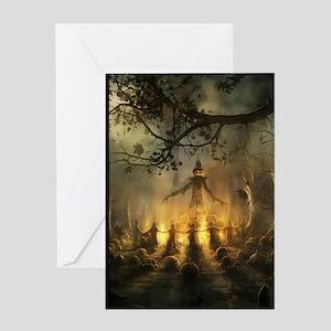 scarecrowgatheringvert_mini poster_1 Greeting Card