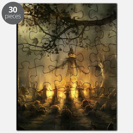 scarecrowgatheringvert_mini poster_12x18-fu Puzzle