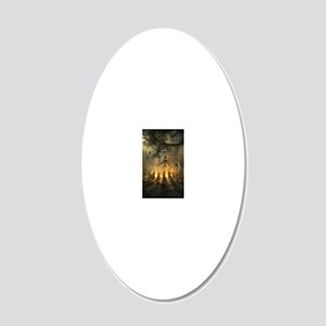 scarecrowgatheringvert_mini  20x12 Oval Wall Decal