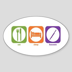 Eat Sleep Bassoon Oval Sticker