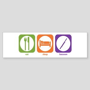Eat Sleep Bassoon Bumper Sticker