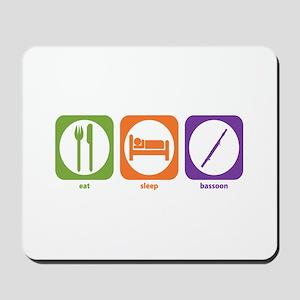Eat Sleep Bassoon Mousepad