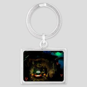witchincave_miniposter_12x18_fu Landscape Keychain