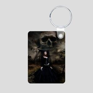 witchskullsky_mini poster_ Aluminum Photo Keychain