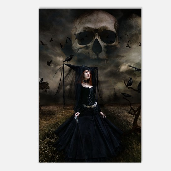 witchskullsky_mini poster Postcards (Package of 8)