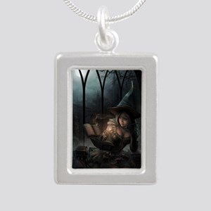 witchpretty_mini poster_ Silver Portrait Necklace