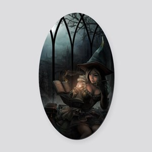 witchpretty_mini poster_12x18-full Oval Car Magnet