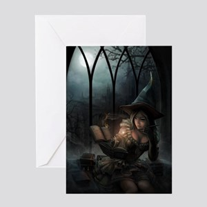 witchpretty_mini poster_12x18-fullbl Greeting Card