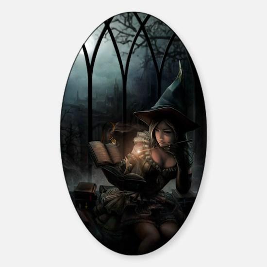 witchpretty_mini poster_12x18-fullb Sticker (Oval)