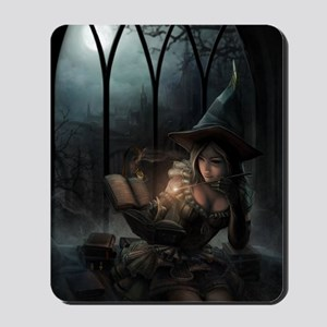 witchpretty_mini poster_12x18-fullbleed Mousepad