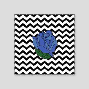 "Blue Rose Square Sticker 3"" x 3"""