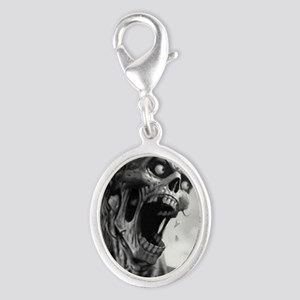 screamingzombievert_mini poster Silver Oval Charm