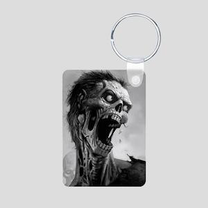 screamingzombievert_mini p Aluminum Photo Keychain