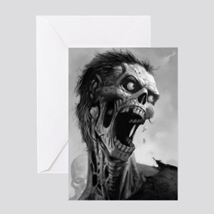 screamingzombievert_mini poster_12x1 Greeting Card