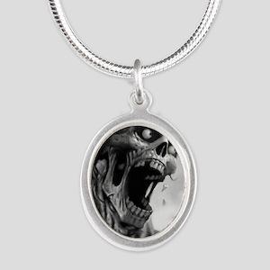 screamingzombievert_mini post Silver Oval Necklace