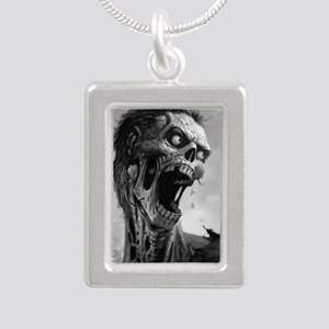 screamingzombievert_mini Silver Portrait Necklace