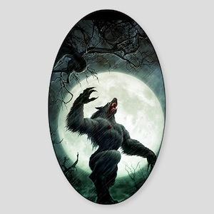 werewolf_mini poster_12x18-fullblee Sticker (Oval)