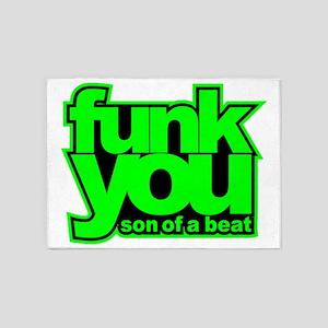 funk you n verde 5'x7'Area Rug