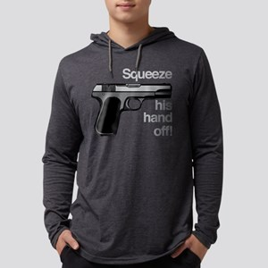Squeeze His Hand Off Mens Hooded Shirt
