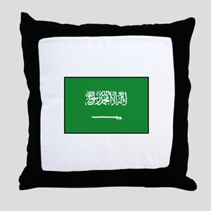 Saudi Arabian Flag Throw Pillow