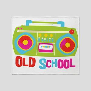 Old School Boom Box Throw Blanket