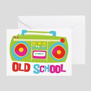 Old School Boom Box Greeting Card