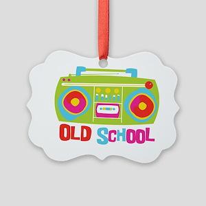 Old School Boom Box Picture Ornament