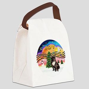 XMusic-Brindle French Bulldog Canvas Lunch Bag