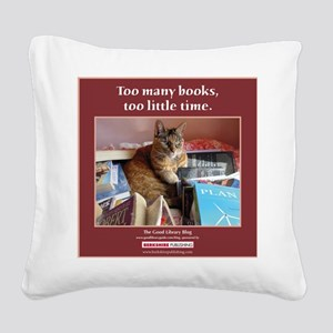 Magellan tote front Square Canvas Pillow