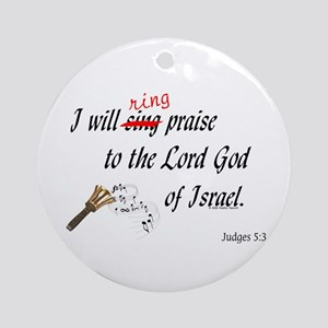 Ring Praise Ornament (Round)