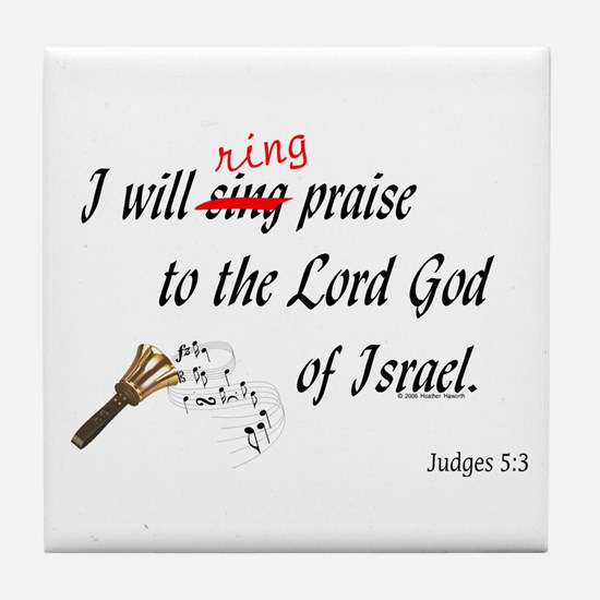 Ring Praise Tile Coaster