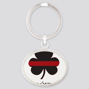 REDLINE_pocket_gaelic Oval Keychain
