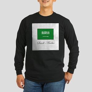 Saudi Arabia - Flag Long Sleeve Dark T-Shirt