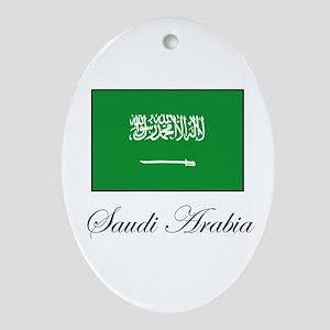 Saudi Arabia - Flag Oval Ornament