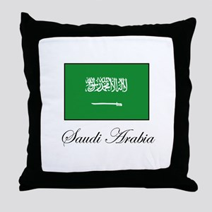 Saudi Arabia - Flag Throw Pillow