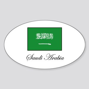 Saudi Arabia - Flag Oval Sticker