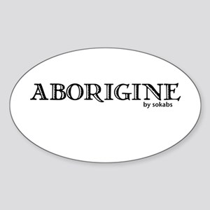 Aborigine Logo Oval Sticker