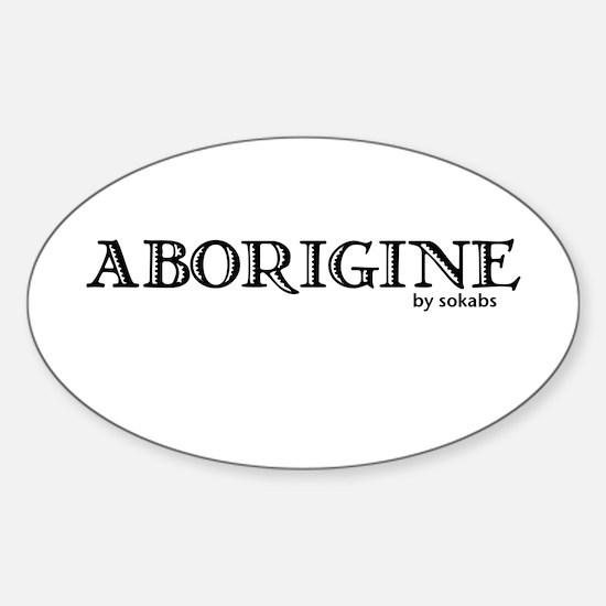Aborigine Logo Oval Decal