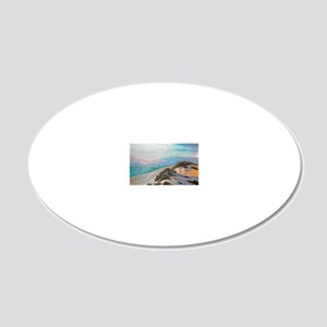 Sunset on the Dunes 9x12_pri 20x12 Oval Wall Decal