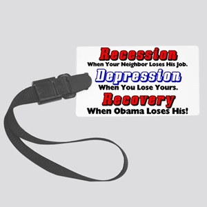 recession Large Luggage Tag
