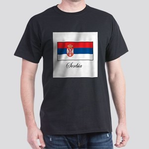 Serbia - Serbian Flag Dark T-Shirt