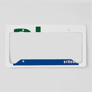 Blue Stroop License Plate Holder