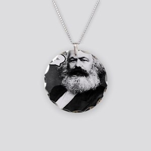 2-Karl Marx Necklace Circle Charm