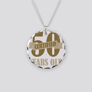 Certified50 Necklace Circle Charm