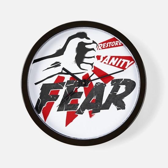 Rally-fear smash-1 Wall Clock