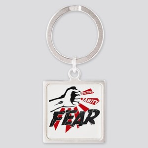 Rally-fear smash-1 Square Keychain