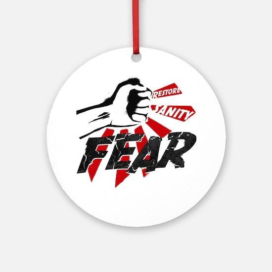 Rally-fear smash-1 Round Ornament